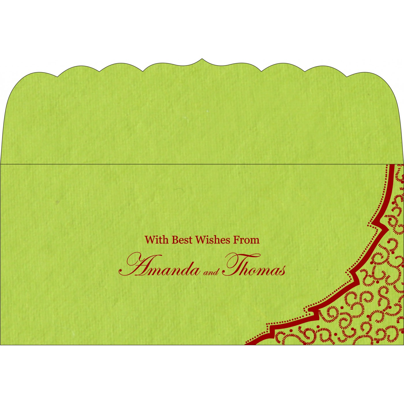Money Envelopes : CME-8219A - IndianWeddingCards
