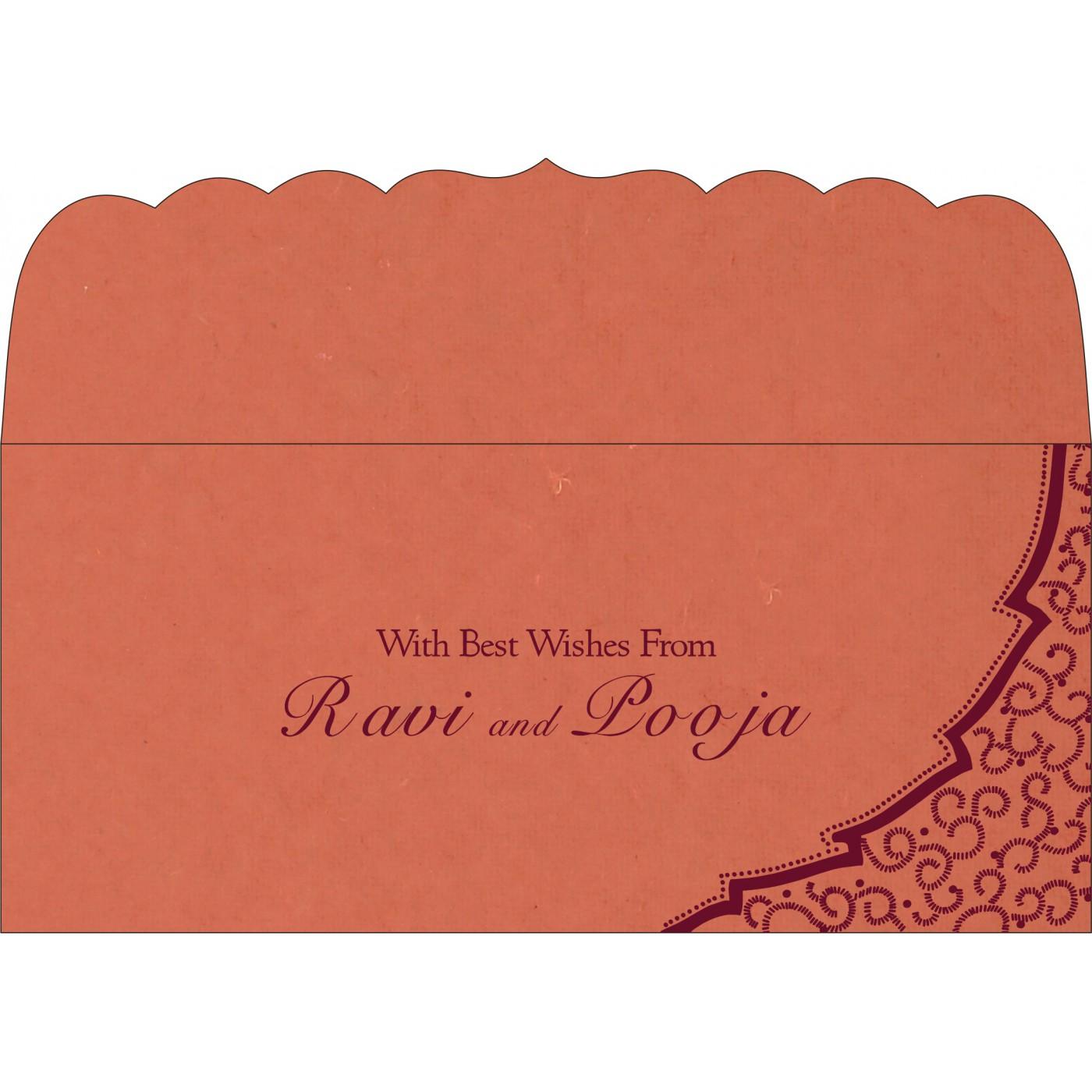 Money Envelopes : CME-8219I - IndianWeddingCards