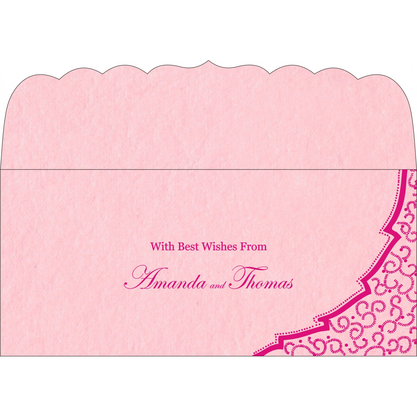 Money Envelopes : CME-8219K - IndianWeddingCards