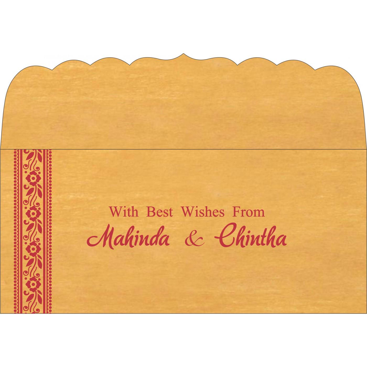 Money Envelopes : CME-8220O - IndianWeddingCards