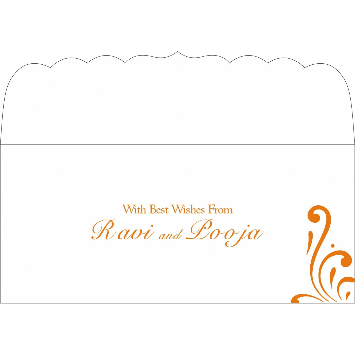 Money Envelopes : CME-8223K - IndianWeddingCards
