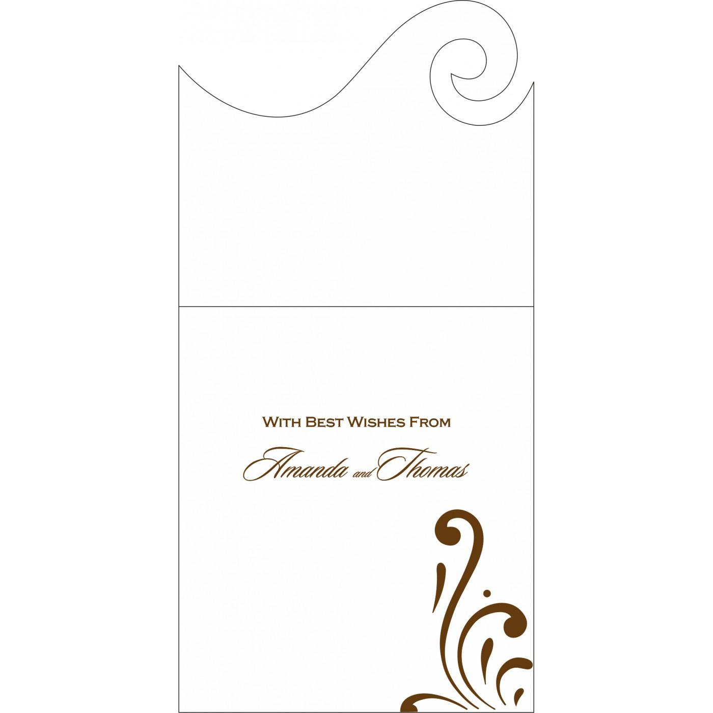 Money Envelopes : CME-8223O - IndianWeddingCards
