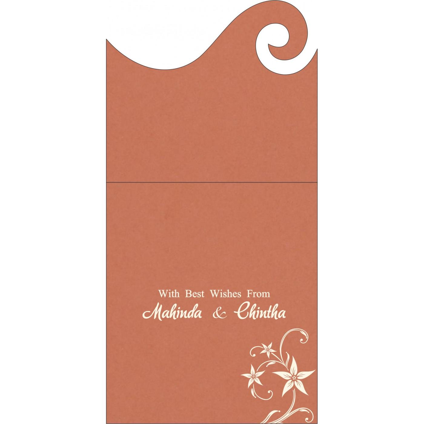 Money Envelopes : CME-8225G - IndianWeddingCards