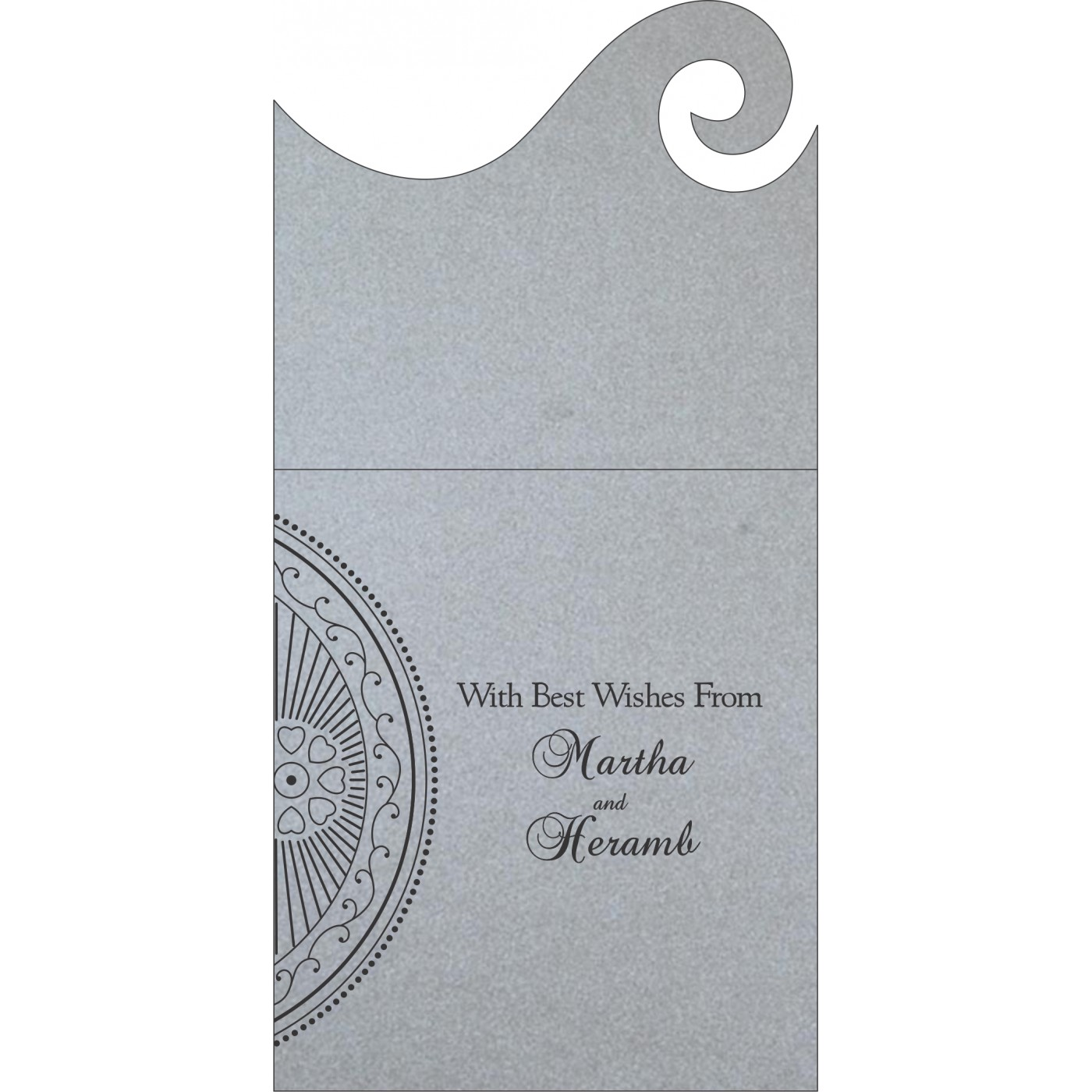 Money Envelopes : CME-8230F - IndianWeddingCards