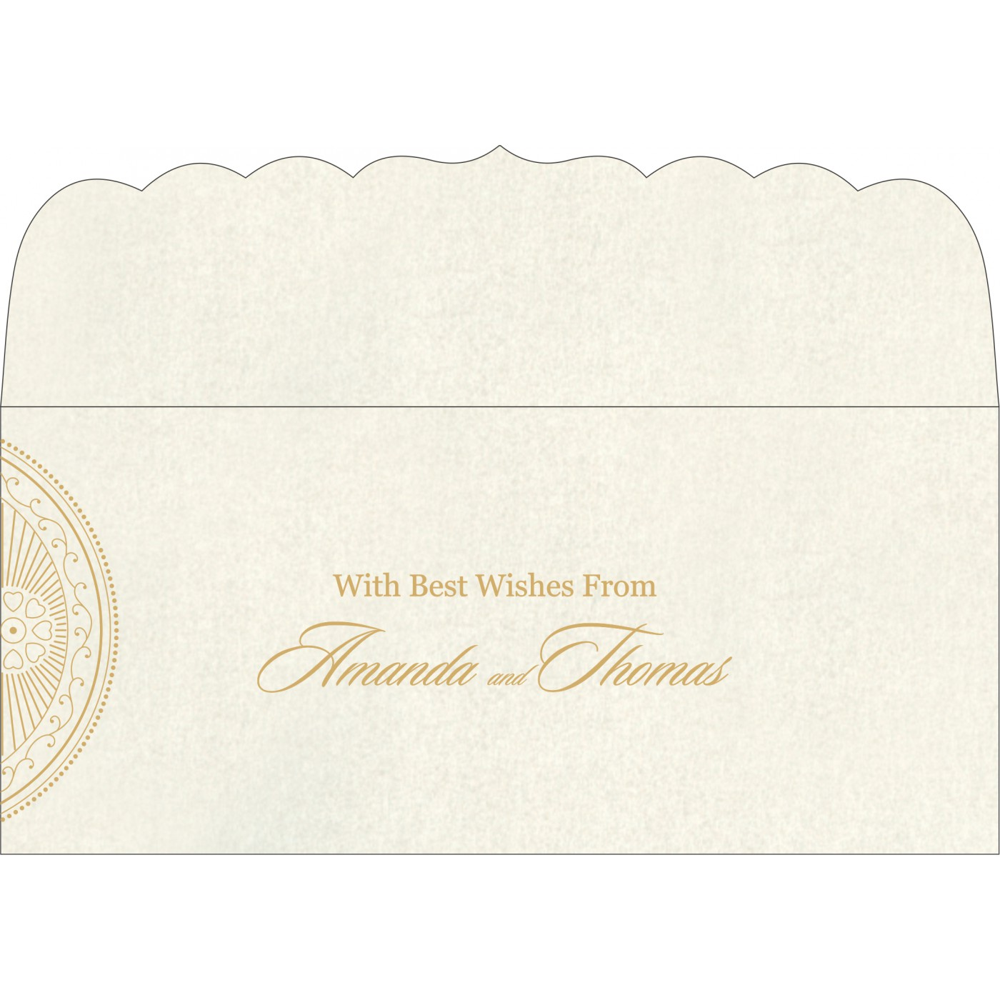 Money Envelopes : CME-8230O - IndianWeddingCards
