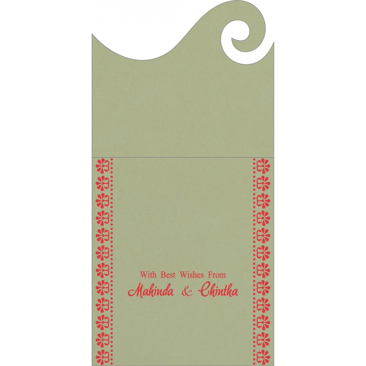 Money Envelopes : CME-8231G - IndianWeddingCards