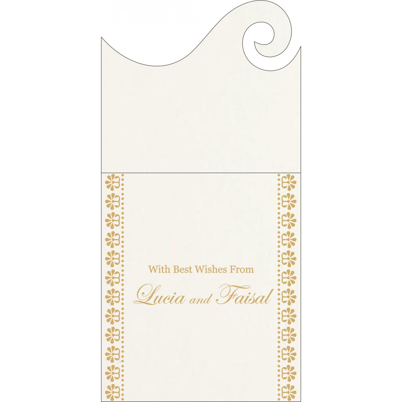 Money Envelopes : CME-8231J - IndianWeddingCards