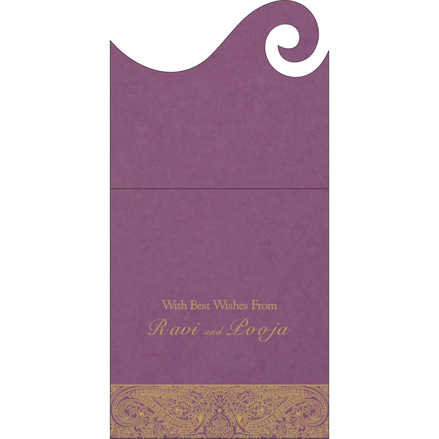 Money Envelopes : CME-8234D - IndianWeddingCards