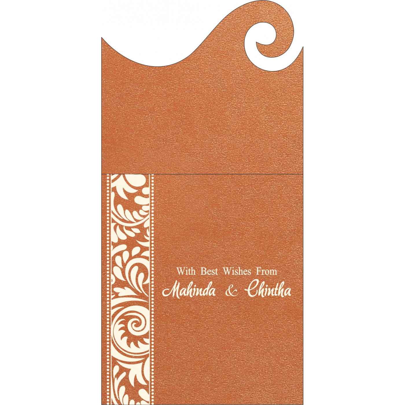 Money Envelopes : CME-8235G - IndianWeddingCards