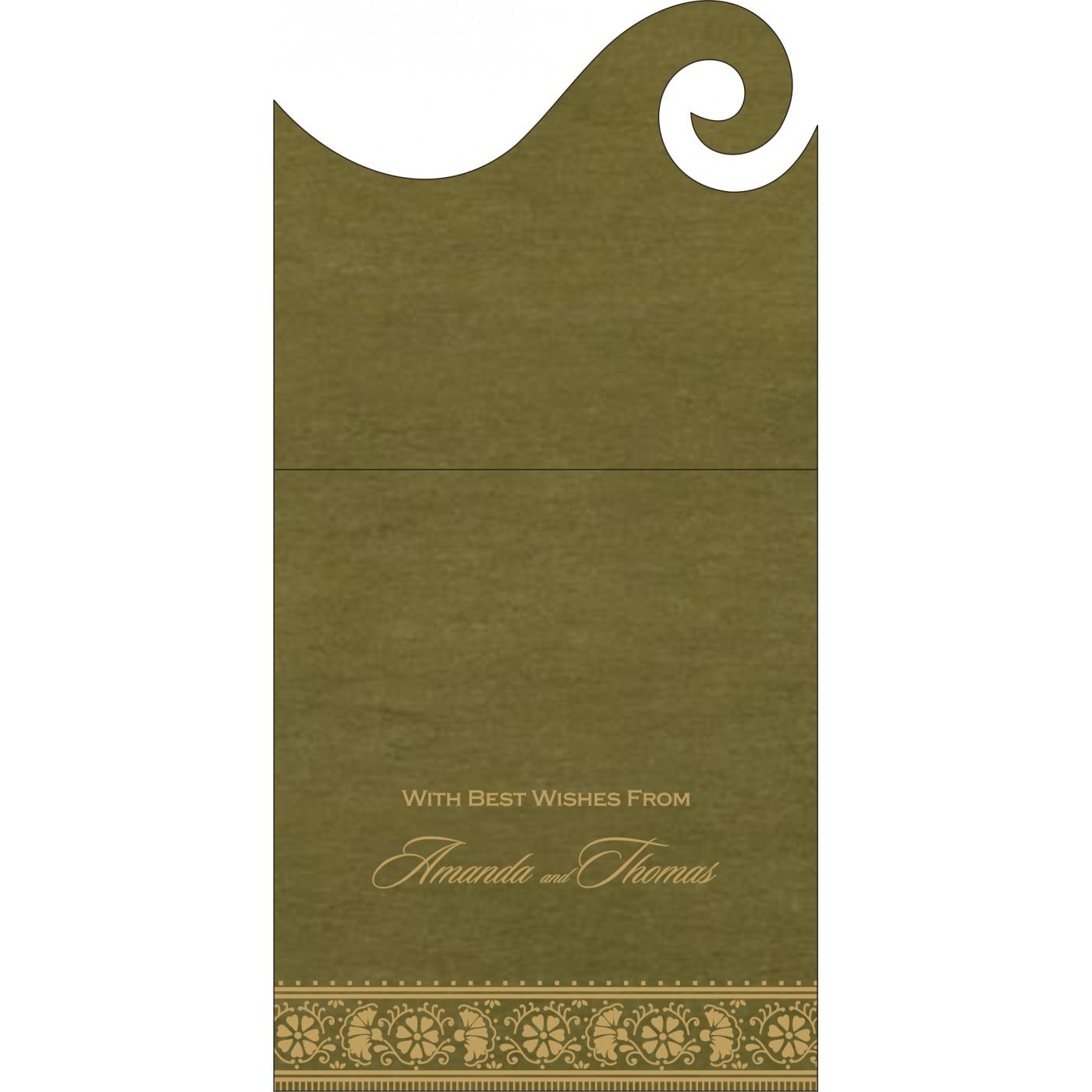 Money Envelopes : CME-8242O - IndianWeddingCards