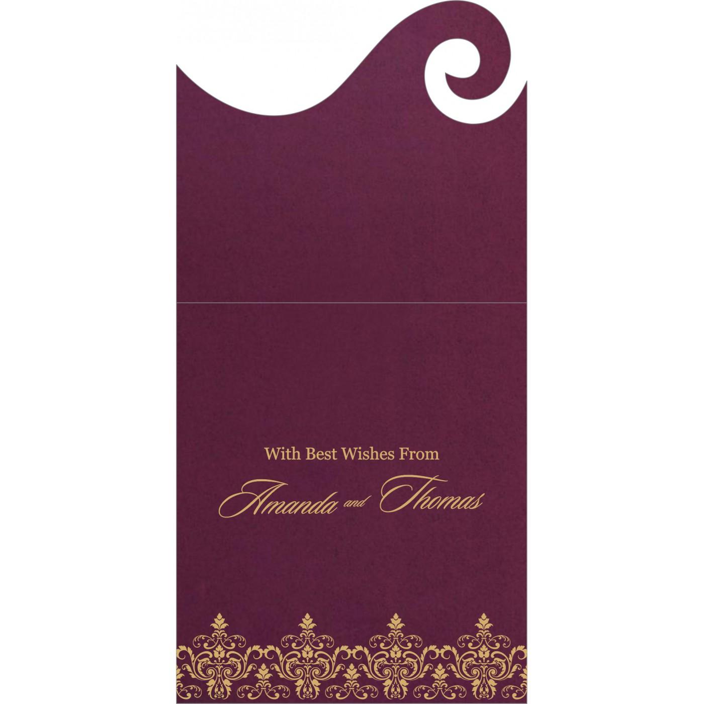 Money Envelopes : CME-8244H - IndianWeddingCards