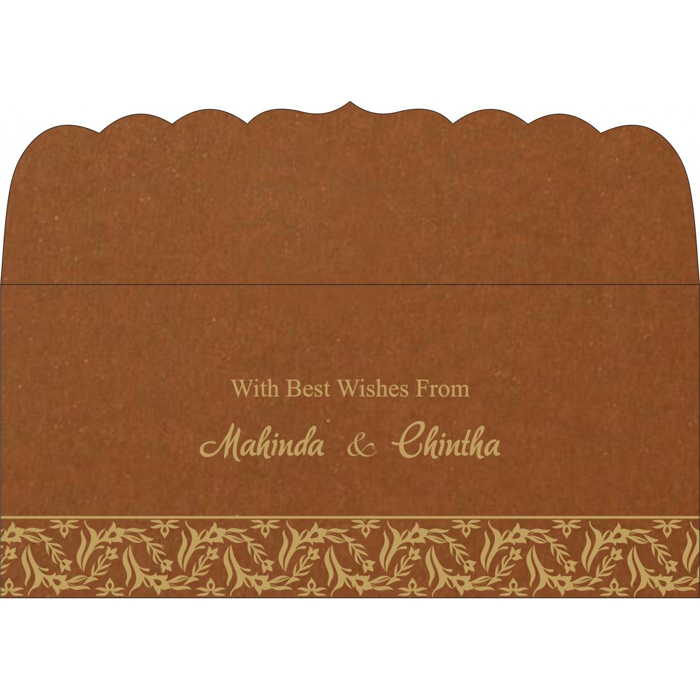 Money Envelopes : CME-8249F - IndianWeddingCards