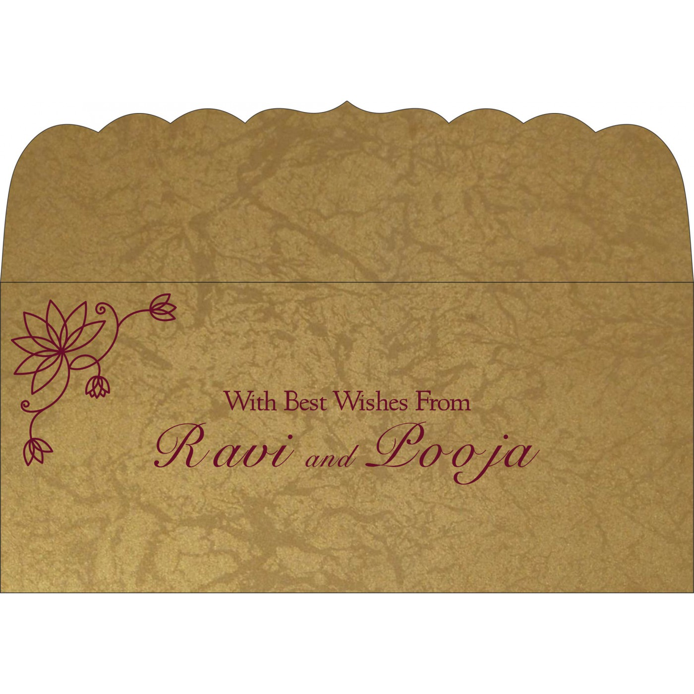 Money Envelopes : CME-8251E - IndianWeddingCards