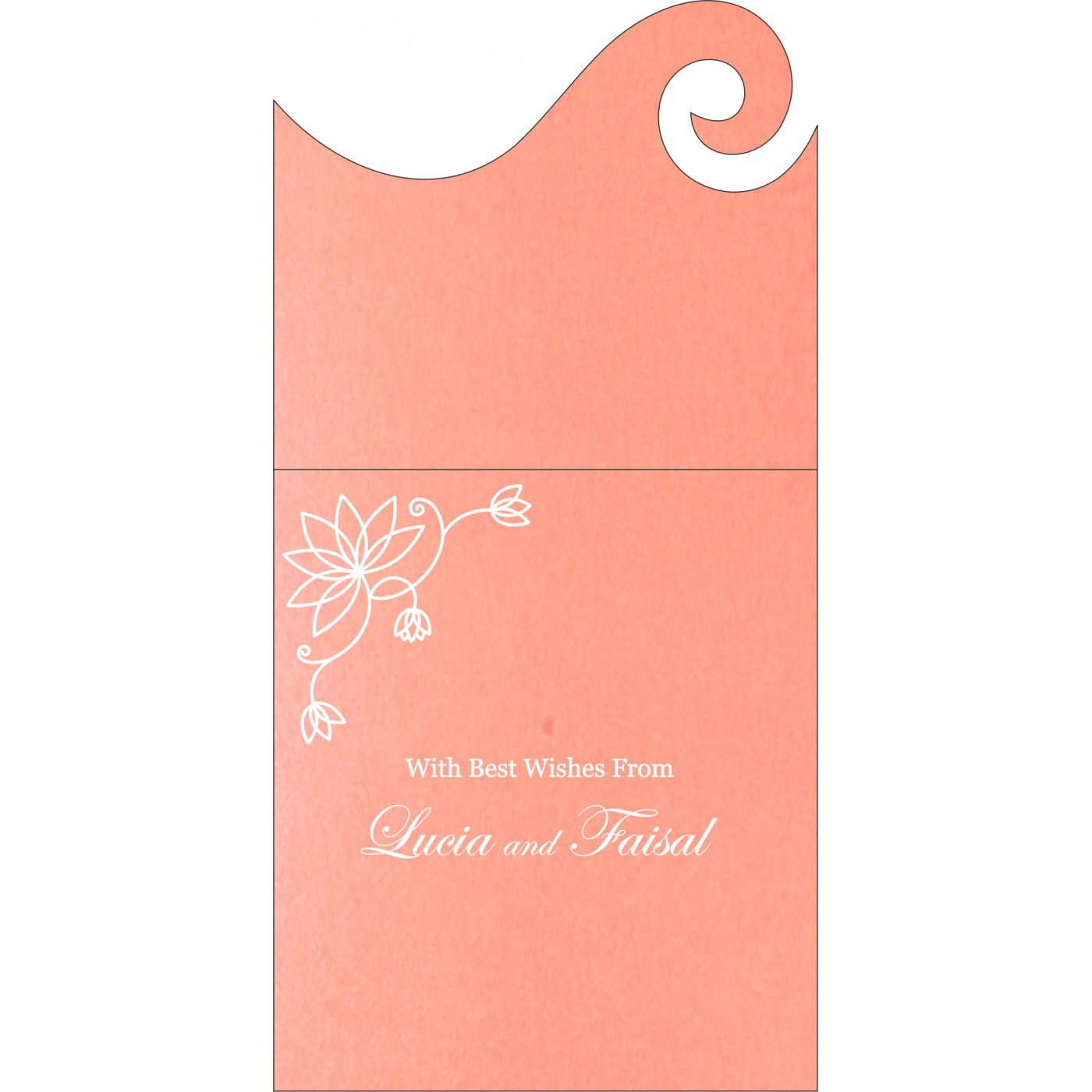 Money Envelopes : CME-8251I - IndianWeddingCards