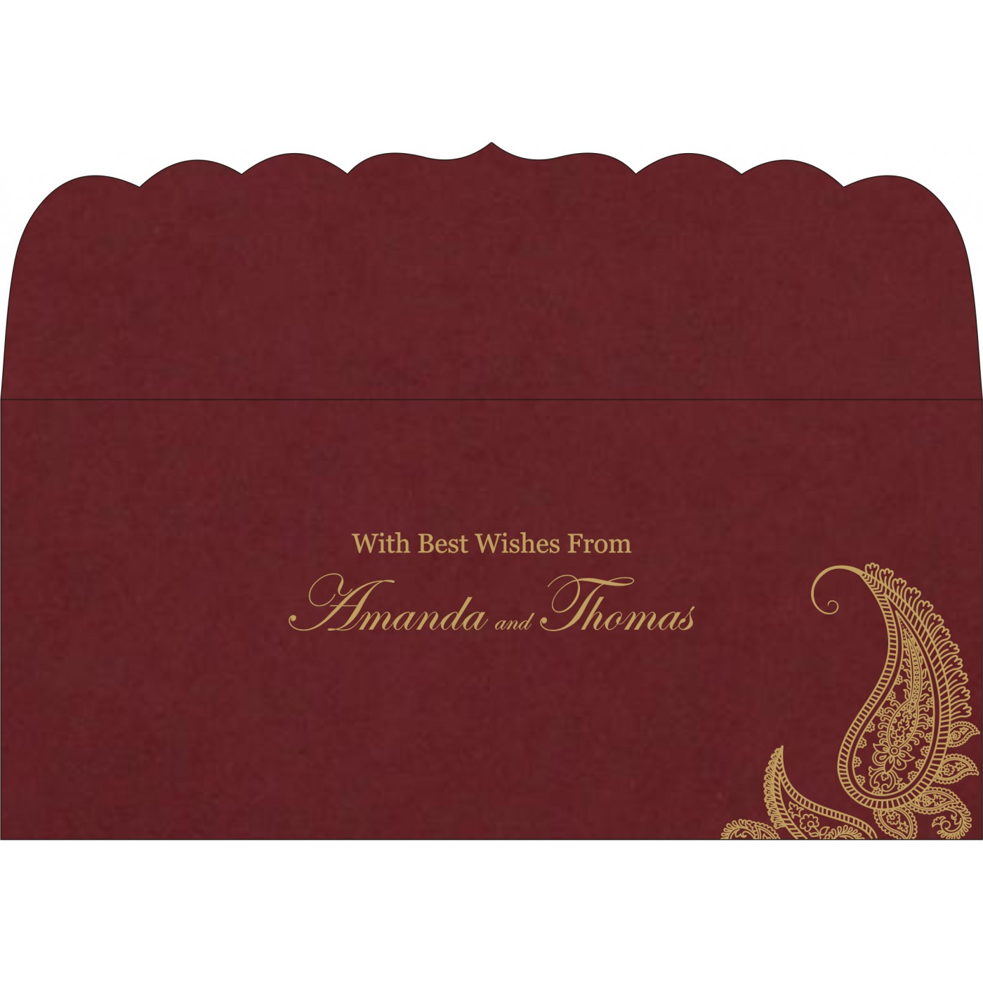 Money Envelopes : CME-8252A - IndianWeddingCards
