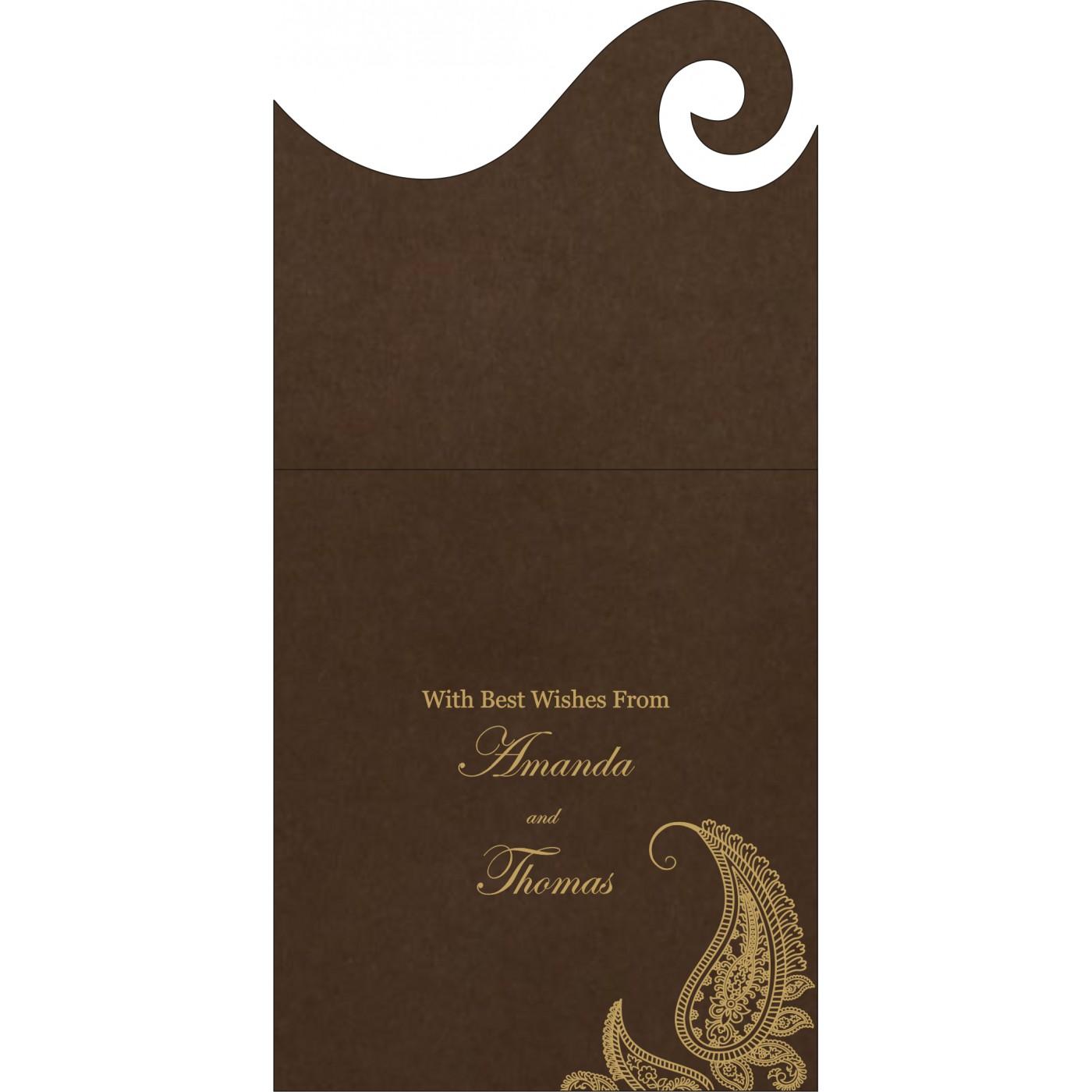 Money Envelopes : CME-8252F - IndianWeddingCards