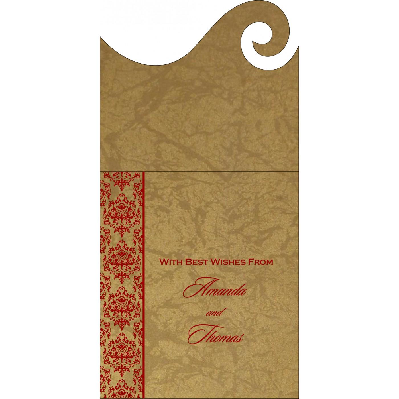 Money Envelopes : CME-8253B - IndianWeddingCards