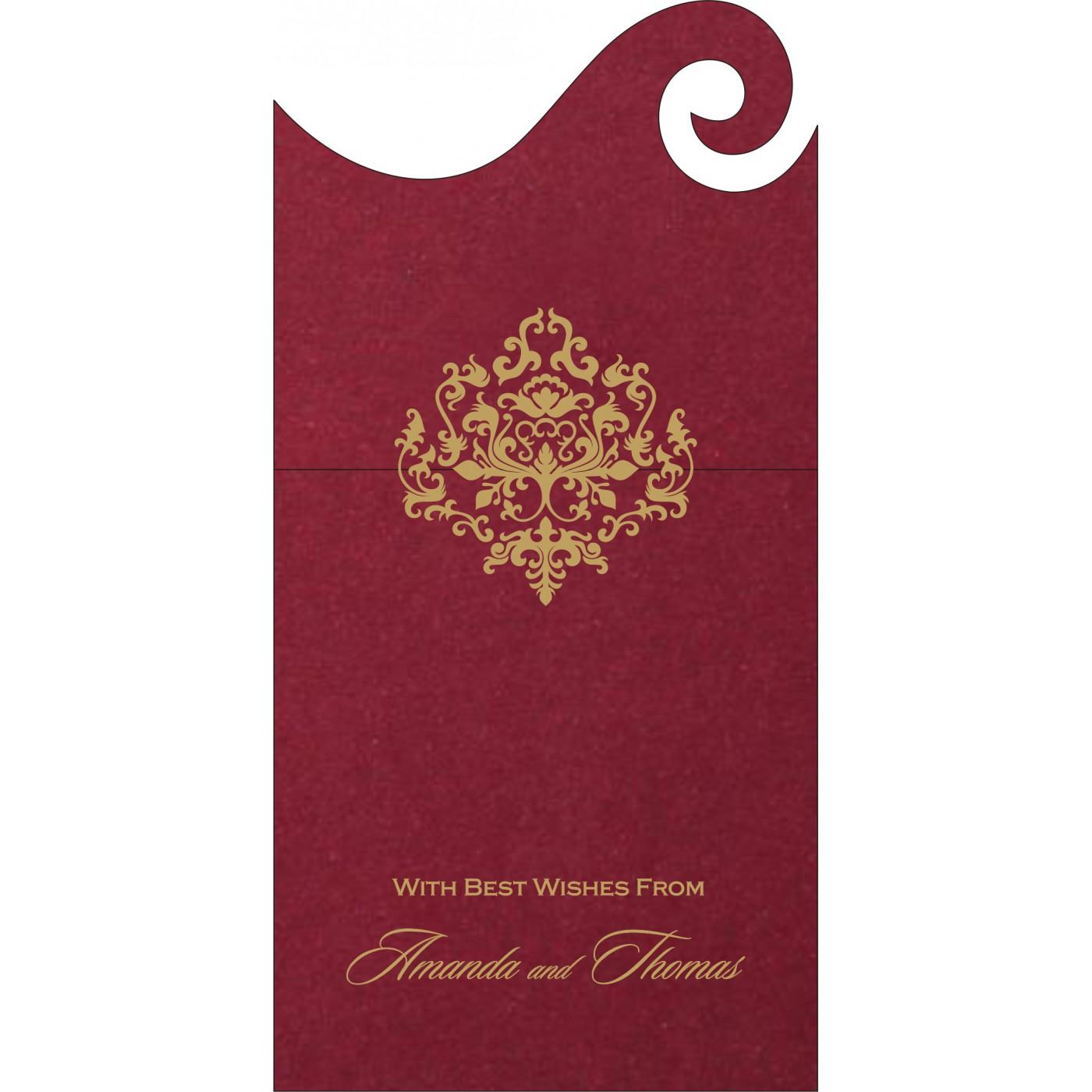 Money Envelopes : CME-8254B - IndianWeddingCards