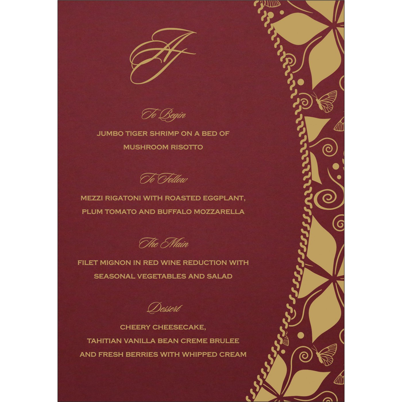 Menu Cards : CMENU-1169 - IndianWeddingCards