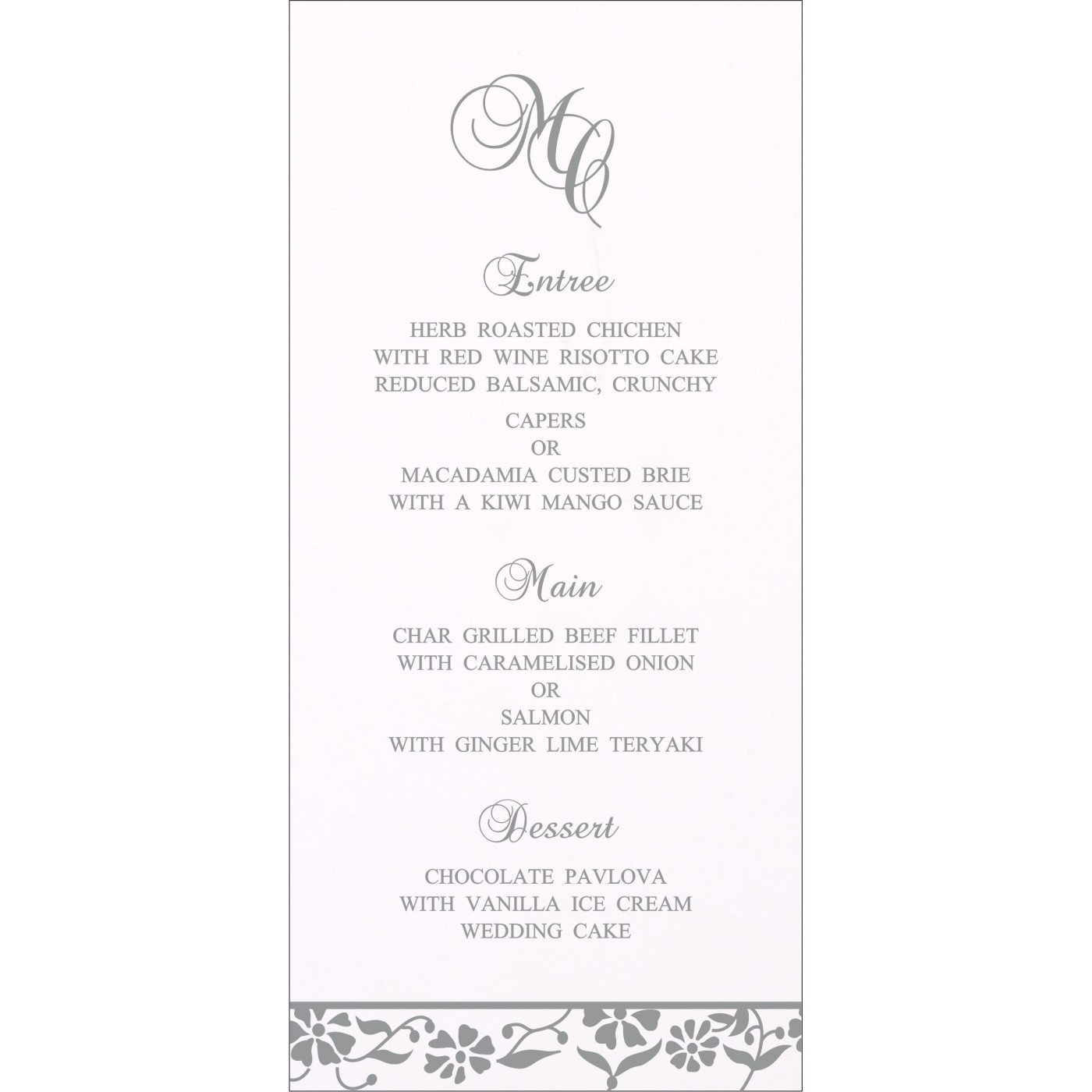 Menu Cards : CMENU-1291 - IndianWeddingCards