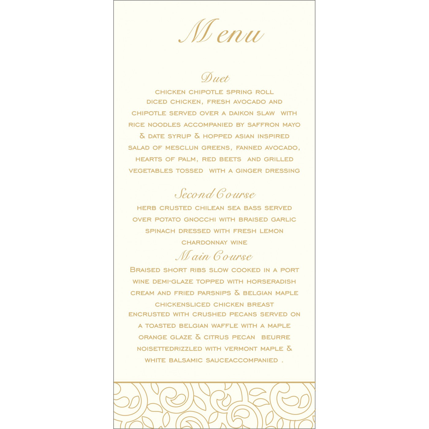 Menu Cards : CMENU-1438 - IndianWeddingCards