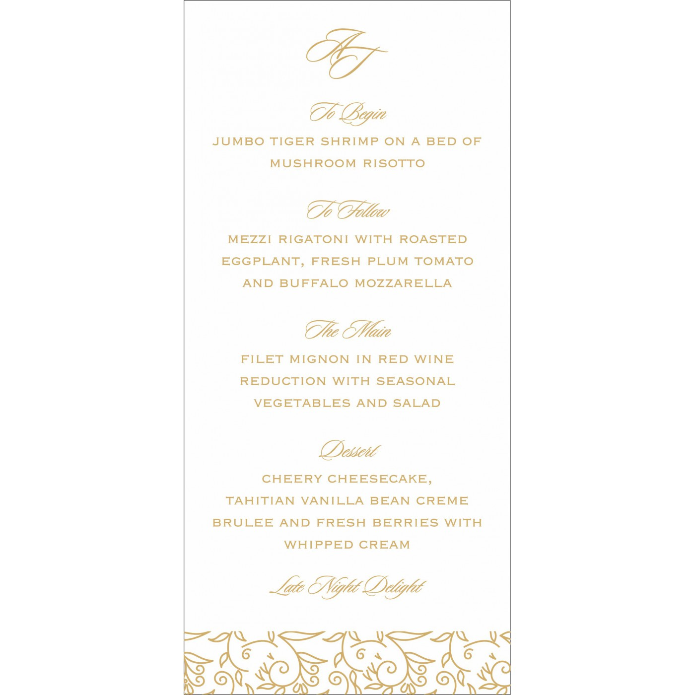 Menu Cards : CMENU-1447 - IndianWeddingCards