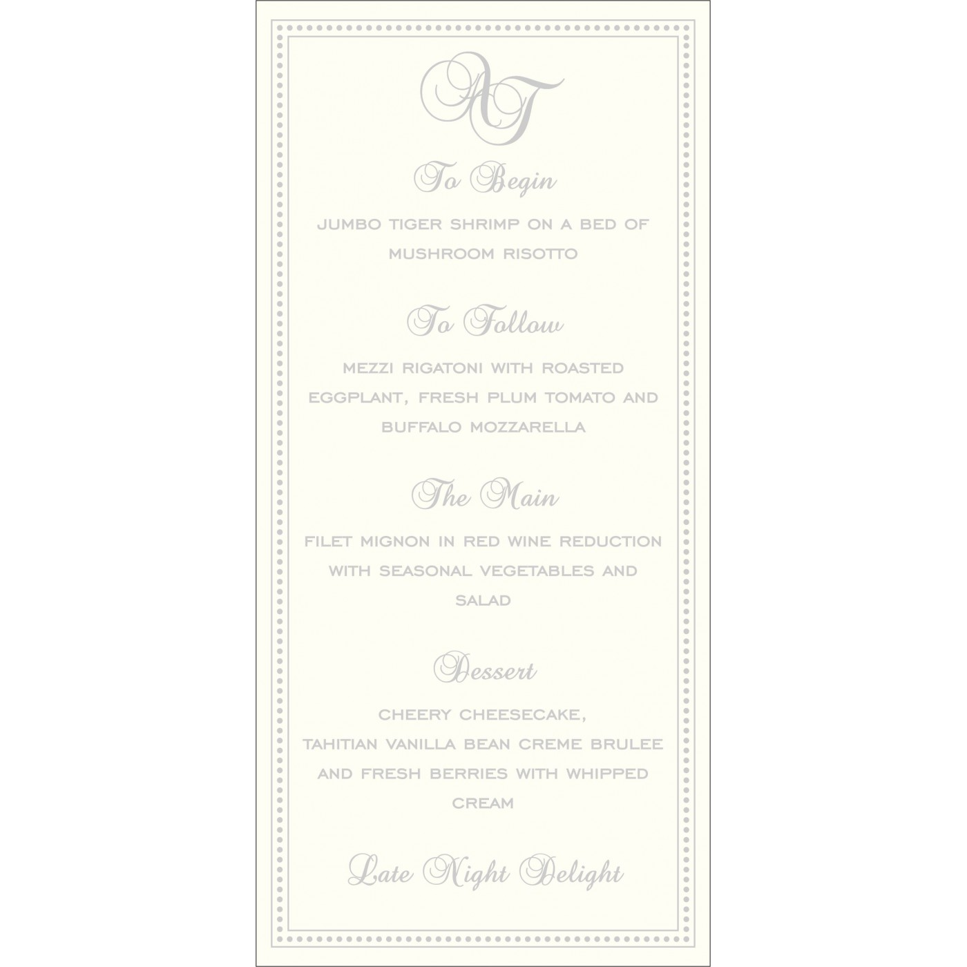 Menu Cards : CMENU-2015 - IndianWeddingCards