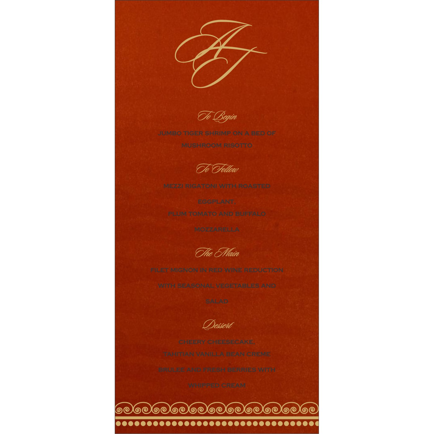 Menu Cards : CMENU-5009B - IndianWeddingCards