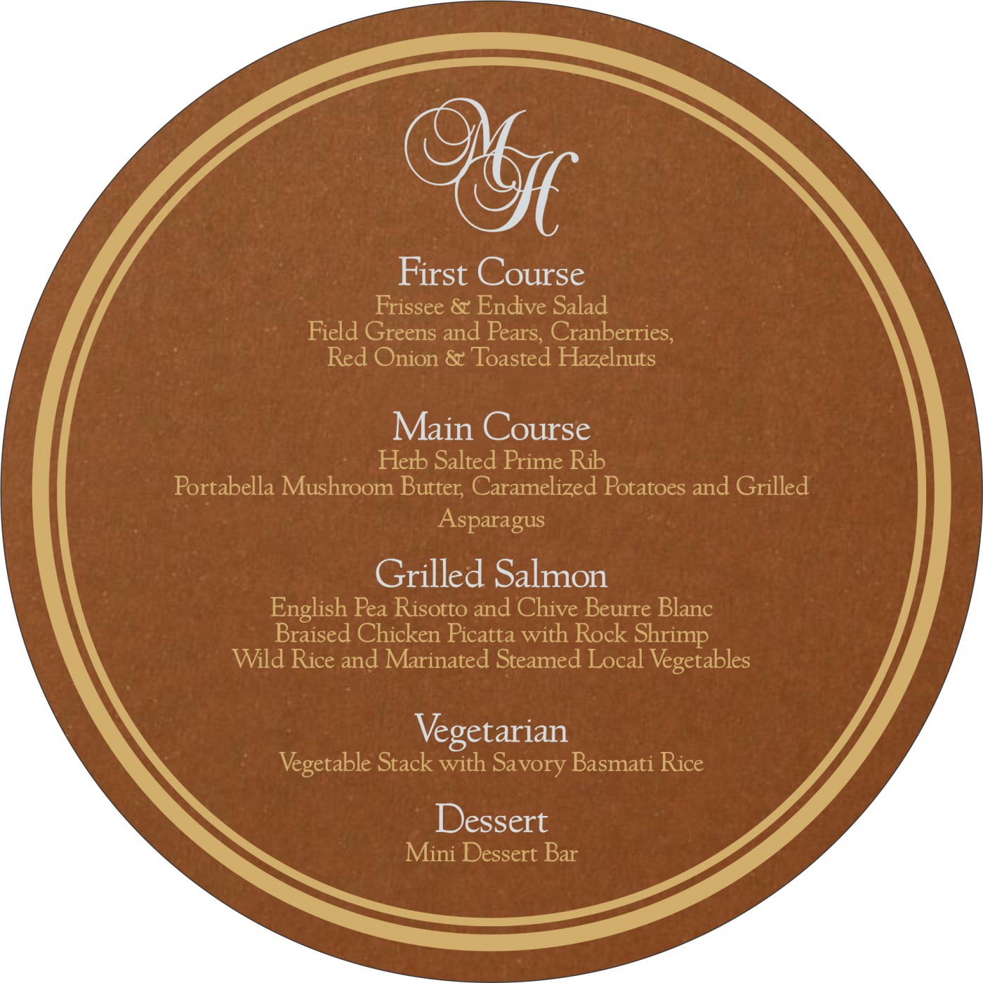 Menu Cards : CMENU-5016C - IndianWeddingCards