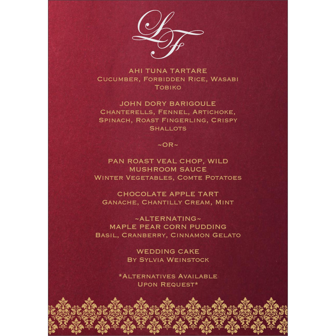 Menu Cards : CMENU-5016F - IndianWeddingCards