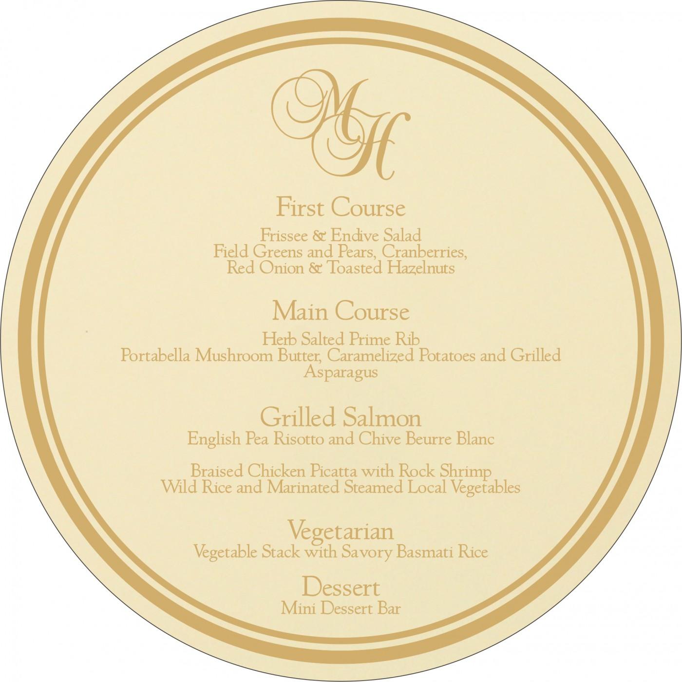 Menu Cards : CMENU-8205D - IndianWeddingCards