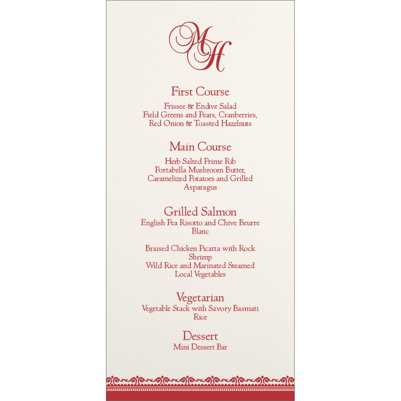 Menu Cards : CMENU-8205J - IndianWeddingCards