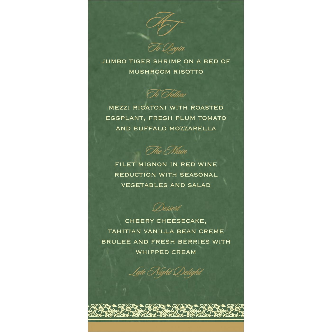 Menu Cards : CMENU-8207L - IndianWeddingCards