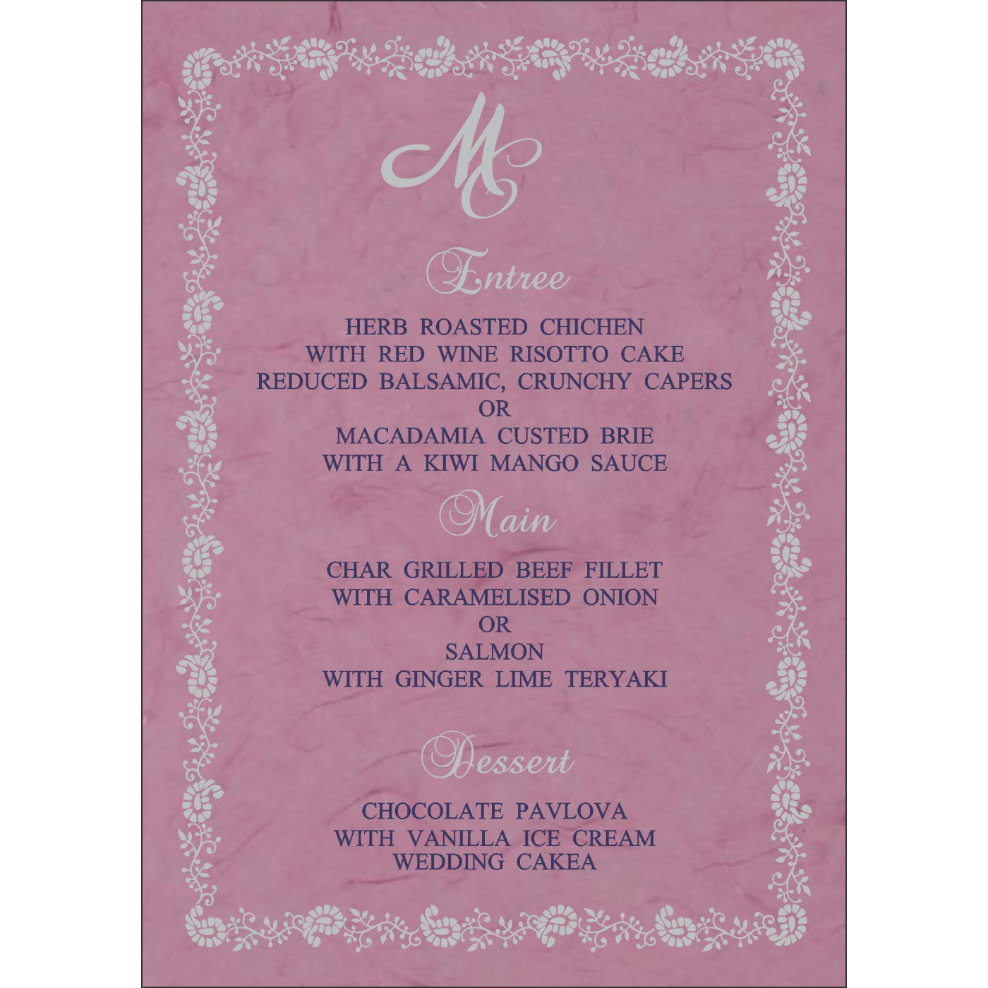 Menu Cards : CMENU-8208J - IndianWeddingCards