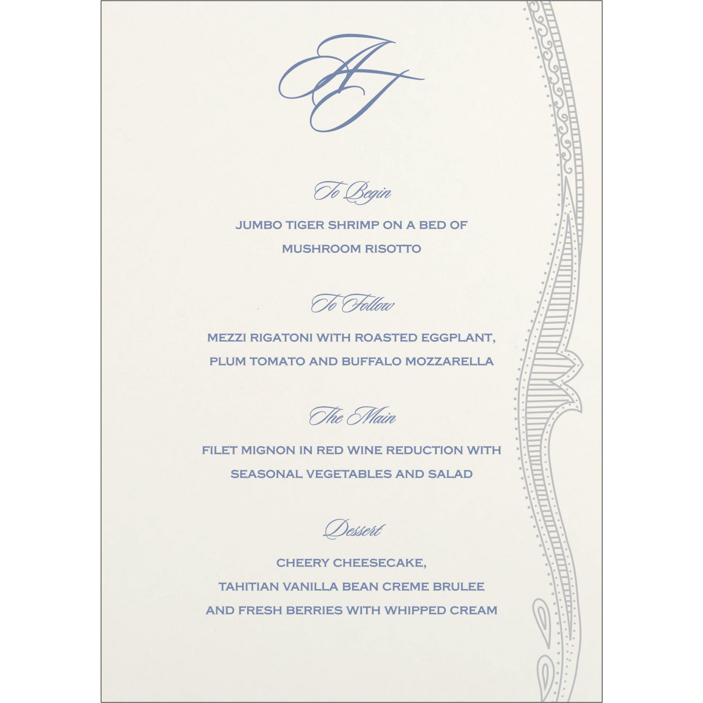 Menu Cards : CMENU-8210H - IndianWeddingCards