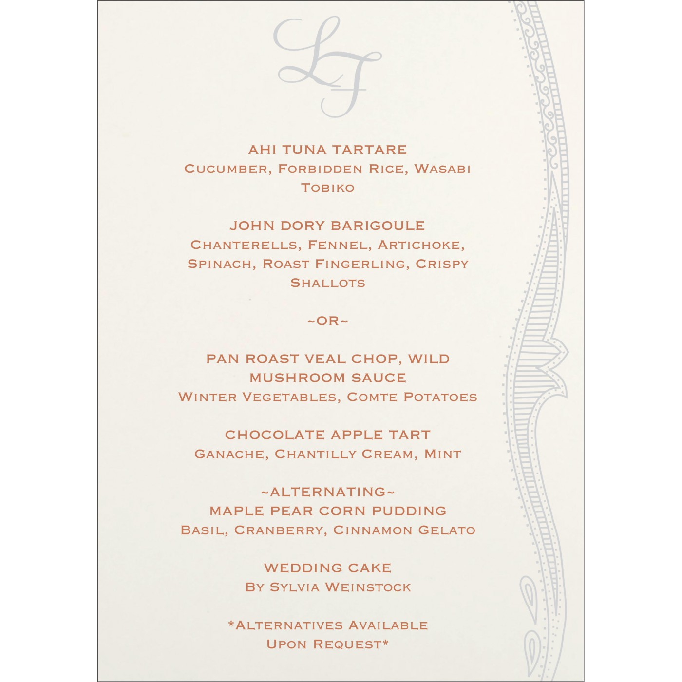 Menu Cards : CMENU-8210M - IndianWeddingCards