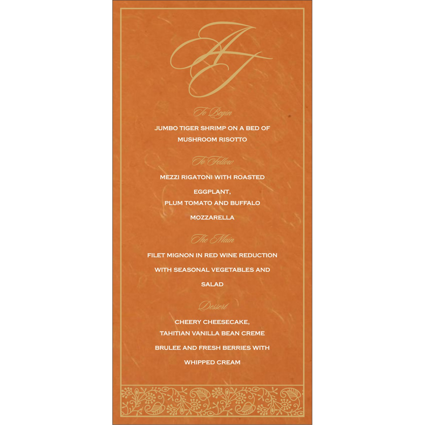 Menu Cards : CMENU-8215L - IndianWeddingCards