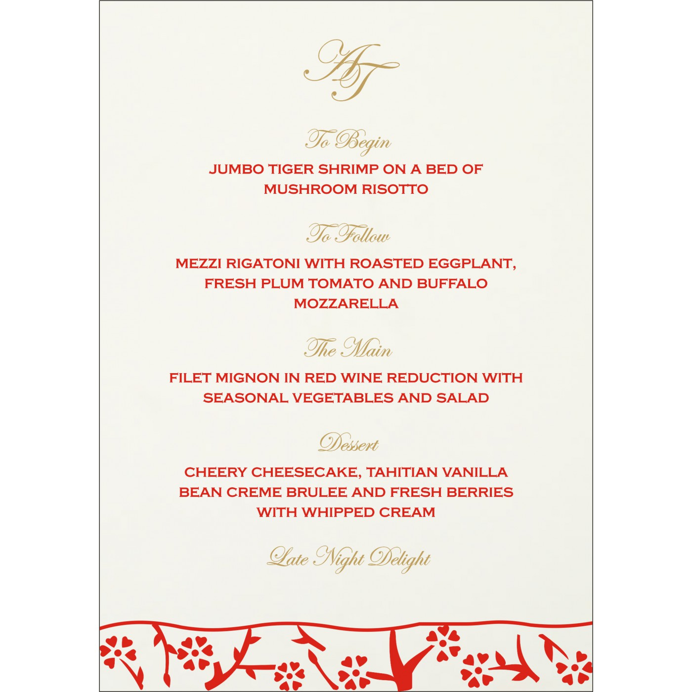 Menu Cards : CMENU-8216A - IndianWeddingCards