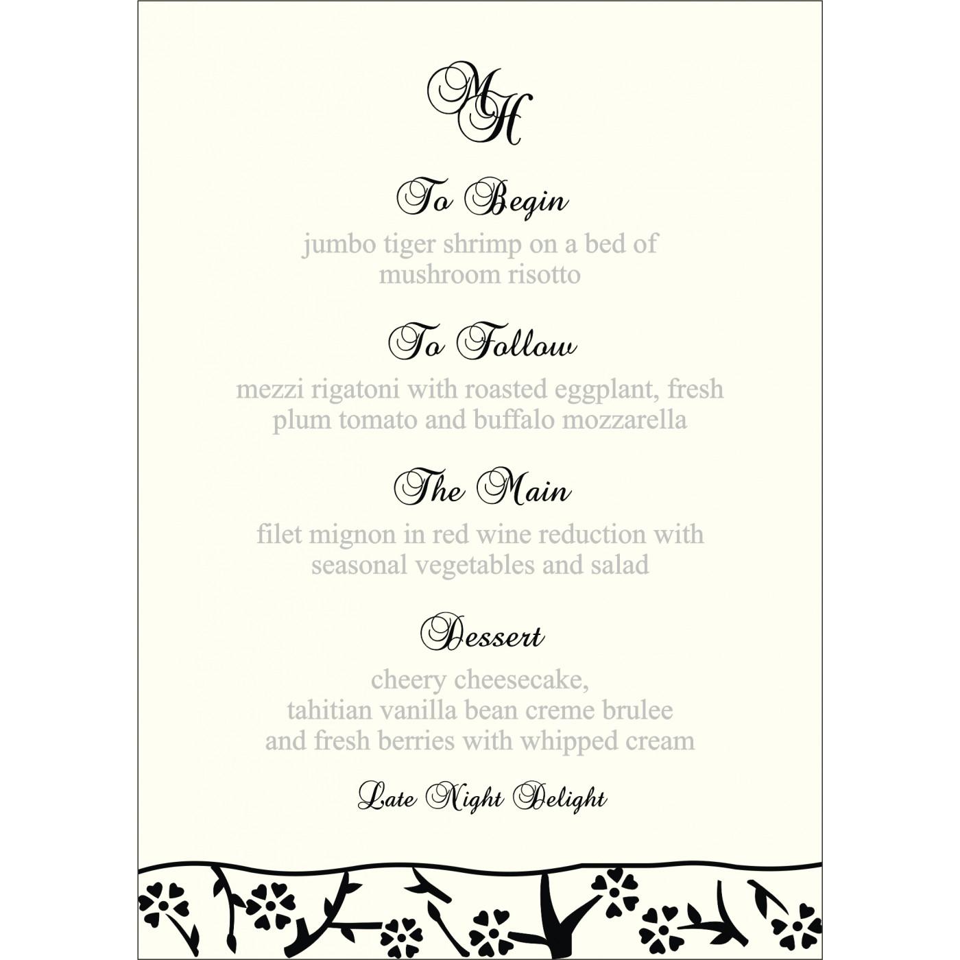 Menu Cards : CMENU-8216N - IndianWeddingCards