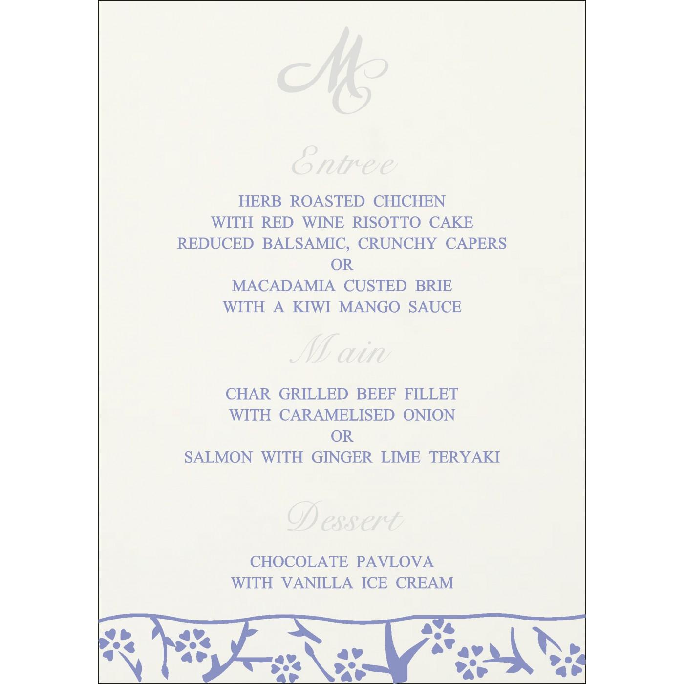 Menu Cards : CMENU-8216Q - IndianWeddingCards