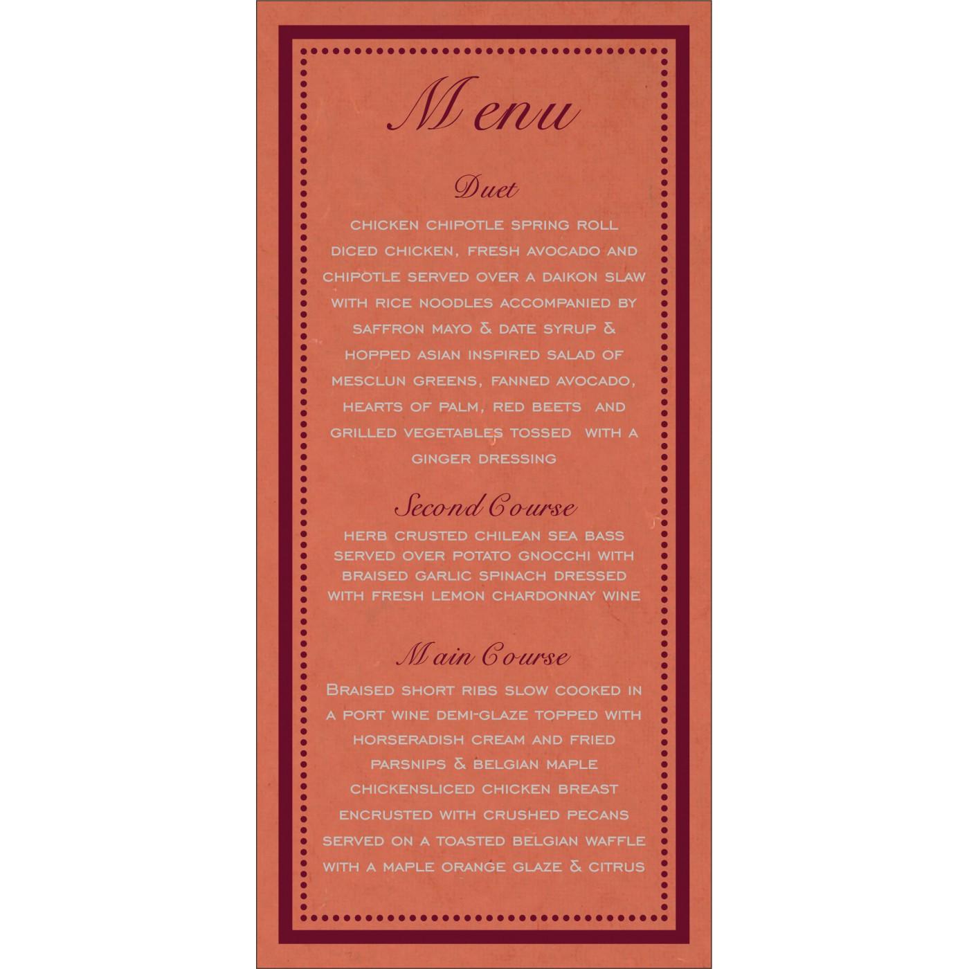 Menu Cards : CMENU-8219I - IndianWeddingCards