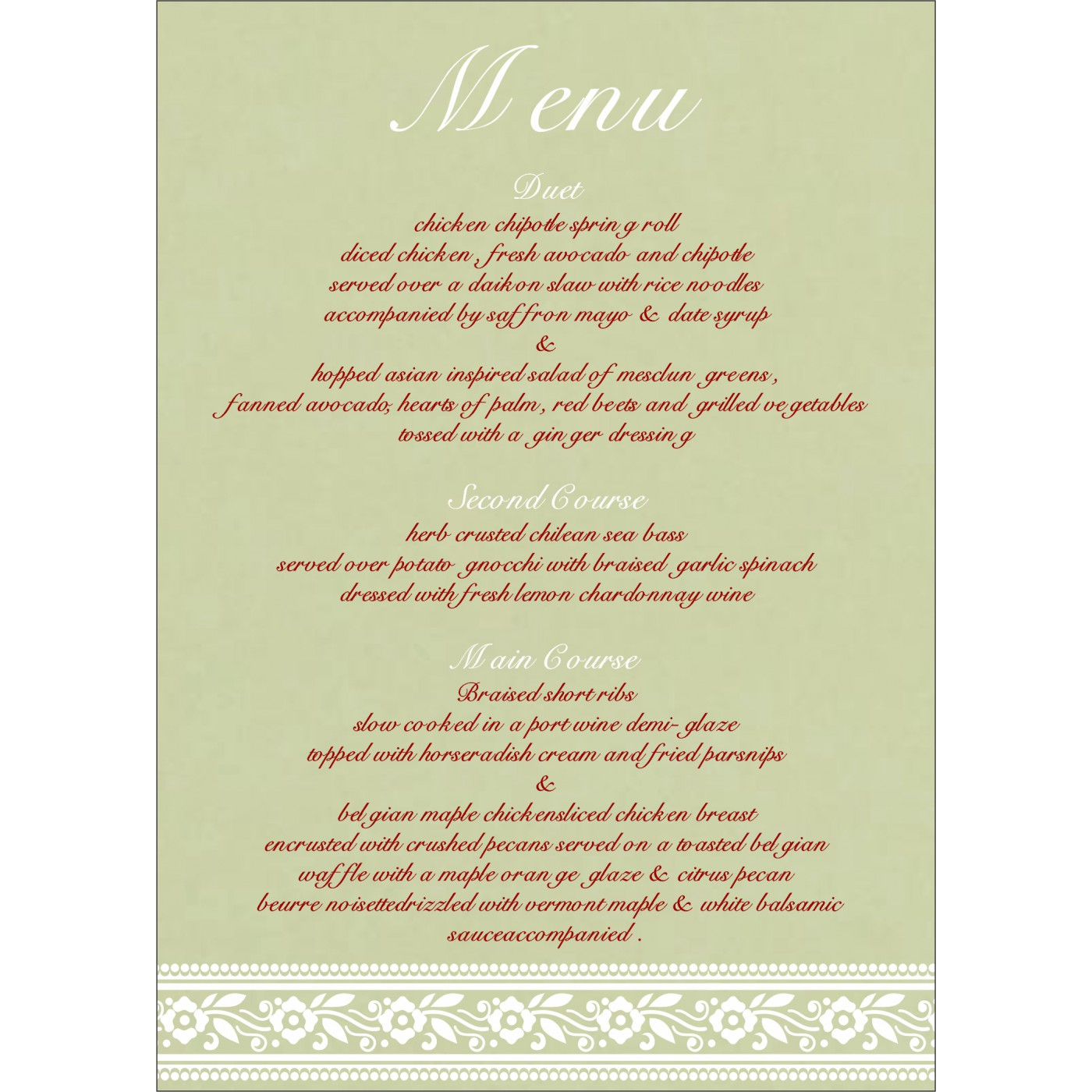 Menu Cards : CMENU-8220G - IndianWeddingCards