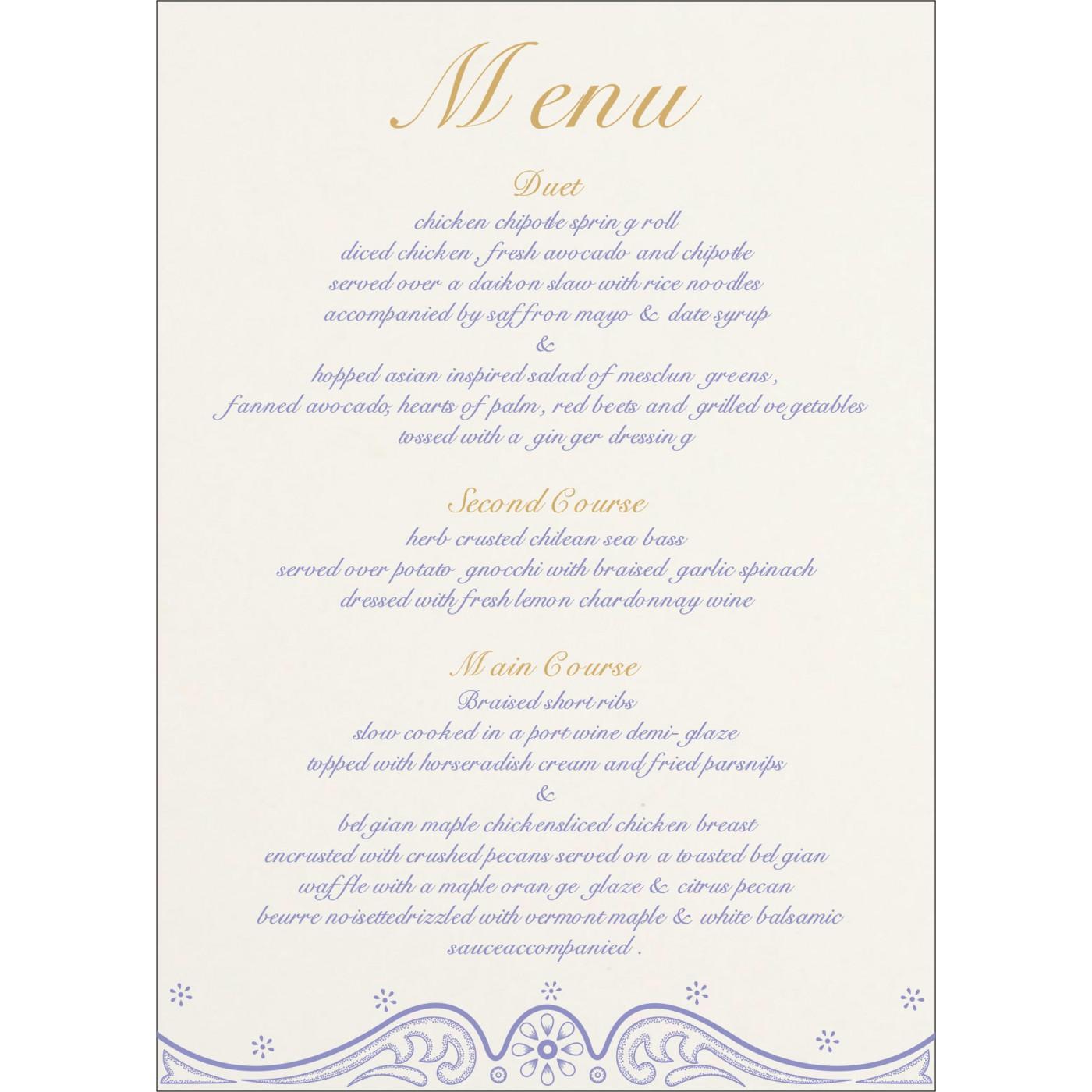 Menu Cards : CMENU-8221E - IndianWeddingCards