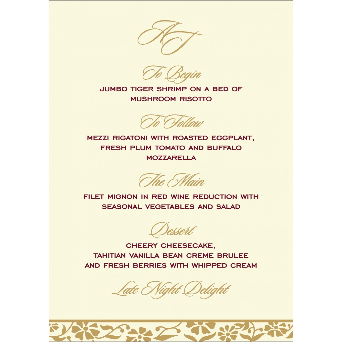 Menu Cards : CMENU-8222I - IndianWeddingCards