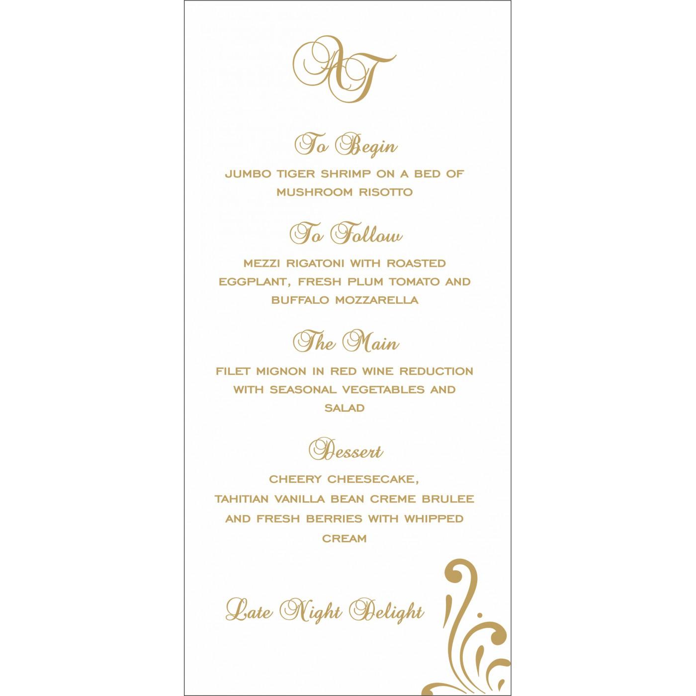 Menu Cards : CMENU-8223D - IndianWeddingCards