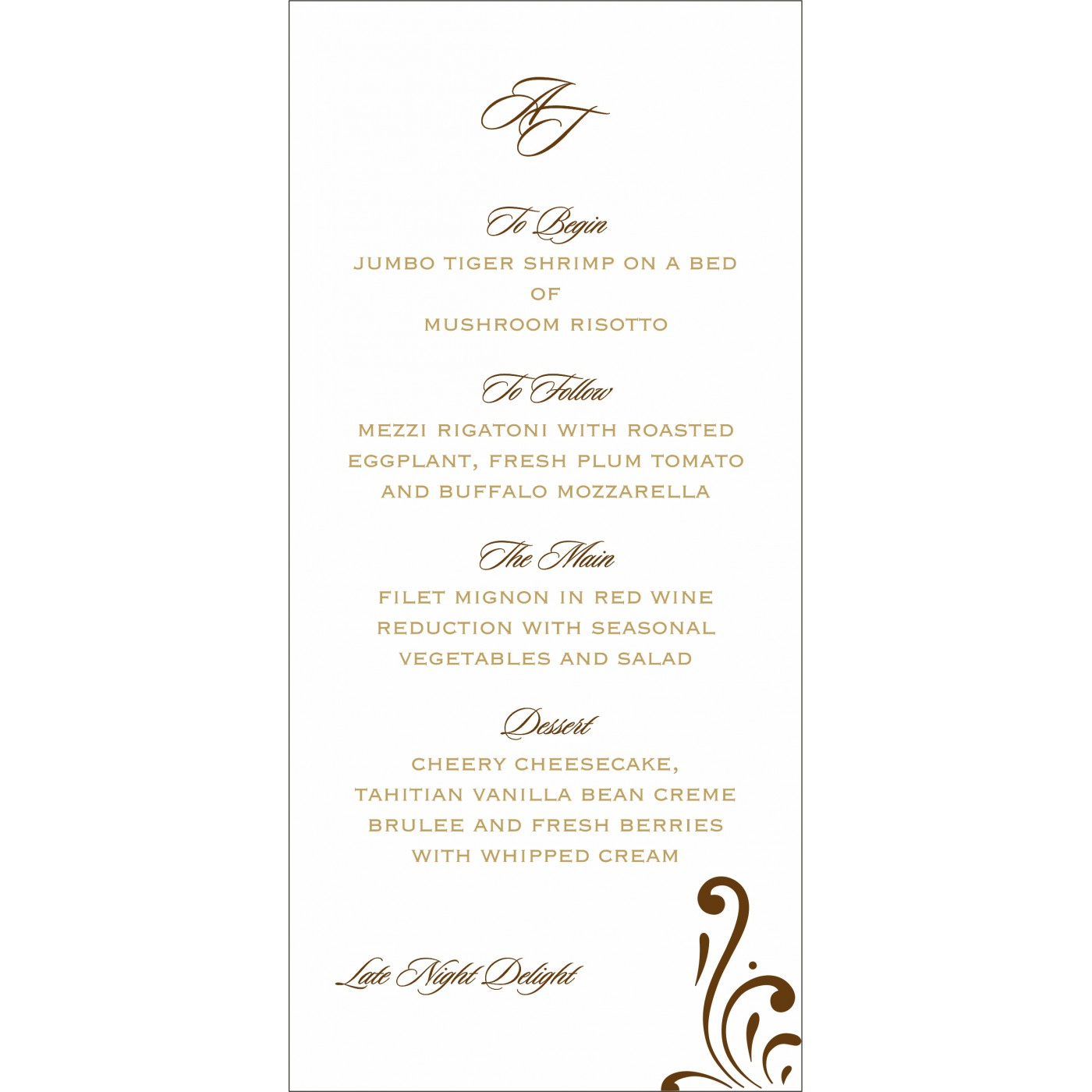 Menu Cards : CMENU-8223O - IndianWeddingCards