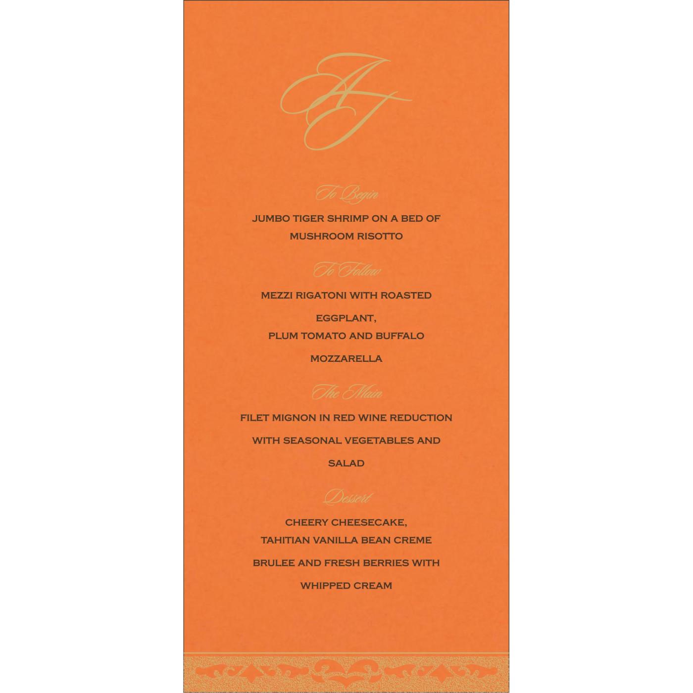 Menu Cards : CMENU-8227D - IndianWeddingCards
