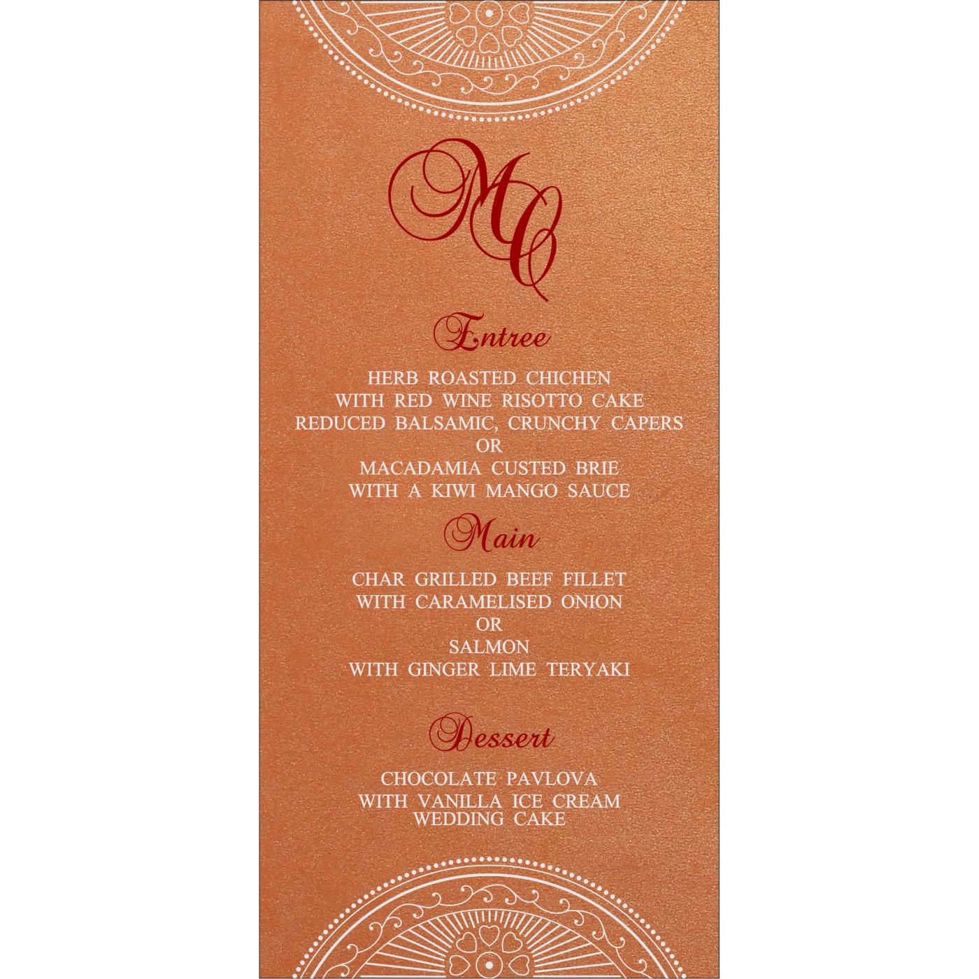 Menu Cards : CMENU-8230T - IndianWeddingCards