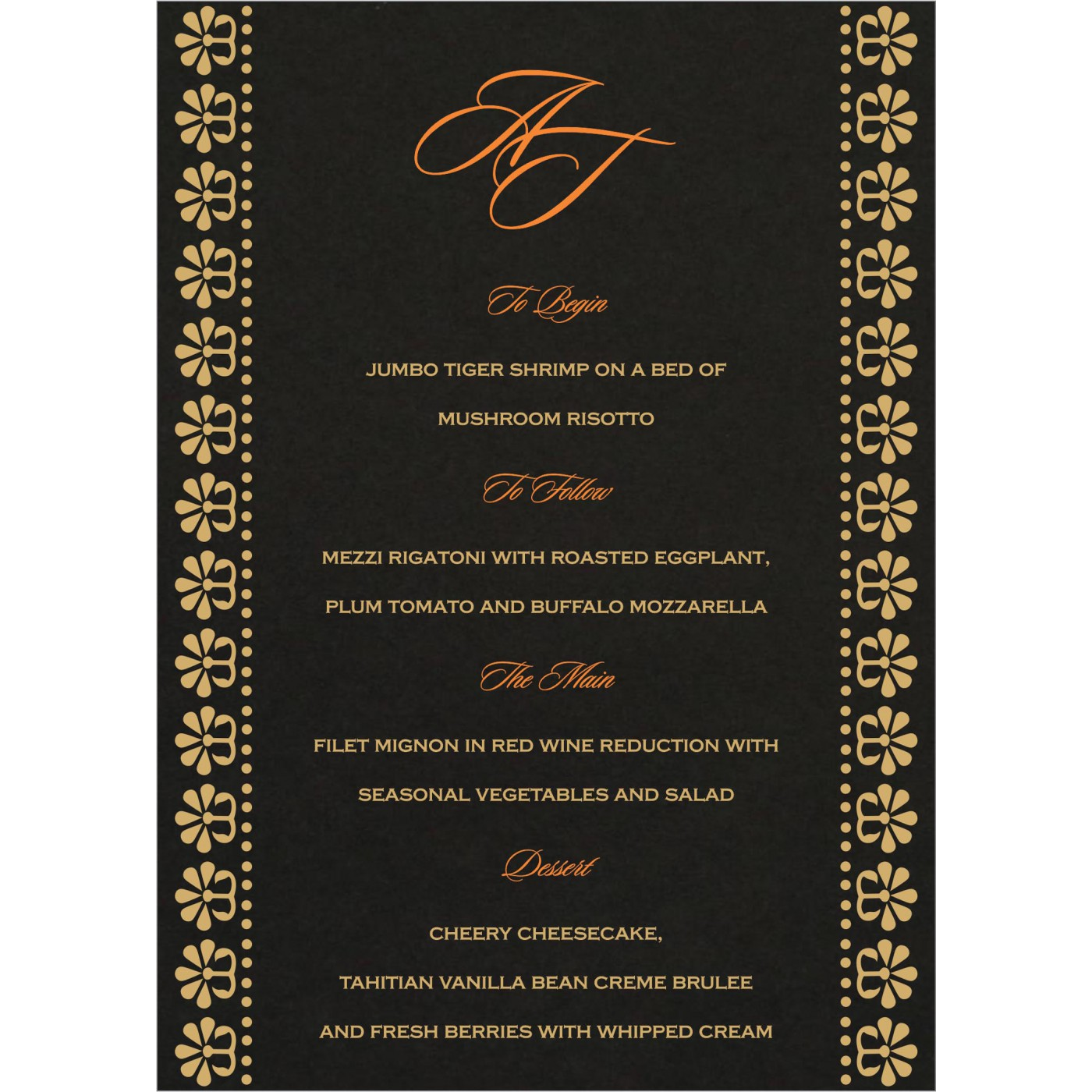 Menu Cards : CMENU-8231I - IndianWeddingCards