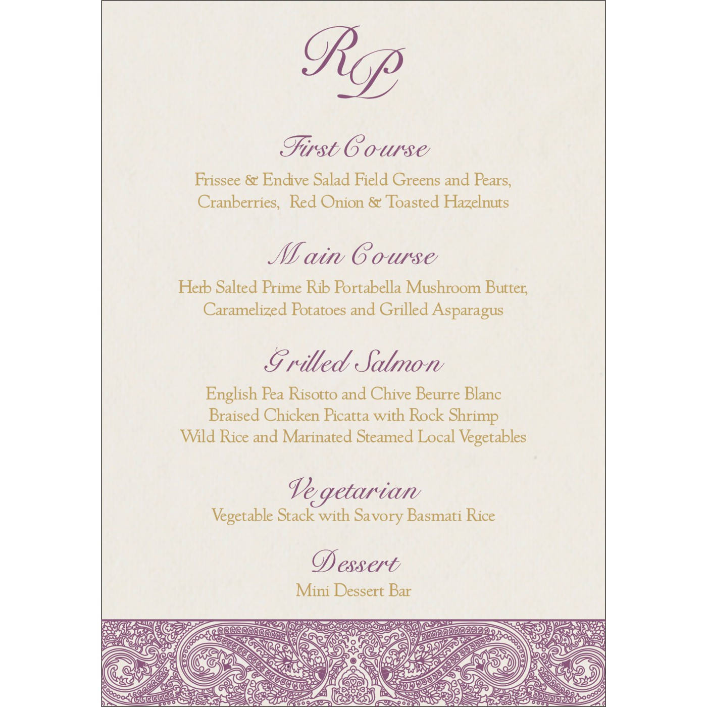 Menu Cards : CMENU-8234D - IndianWeddingCards